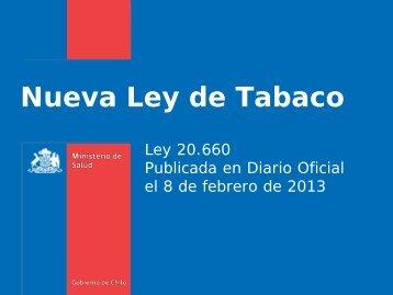 Nueva Ley de Tabaco - SEREMI de Salud Región Valparaíso