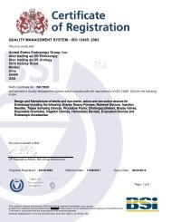 BSI Certificate - US Endoscopy