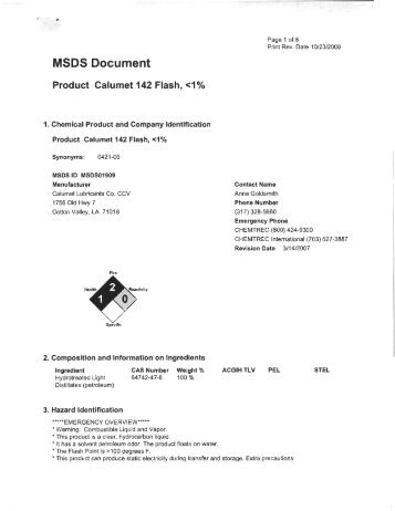 MSDS Document