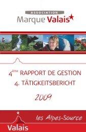 4 rapport de gestion 4. tätigkeitsbericht - Valais excellence