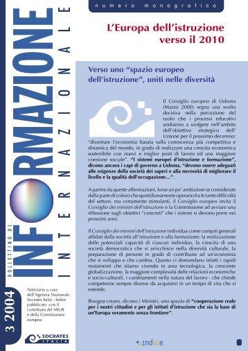 L Europa dell istruzione verso il 2010.pdf - Indire
