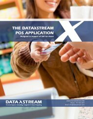 The DataXstream POS Application Product Brief