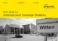 International Exchange Students - Universität Witten/Herdecke
