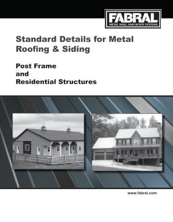 Standard Details for Metal Roofing & Siding - Best Materials