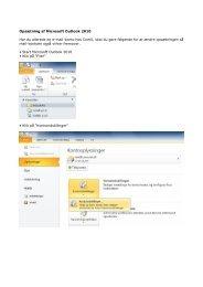 Opsætning af Microsoft Outlook 2010 Har du allerede en e ... - ComX