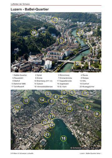 Luzern - BaBel-Quartier N  N - Luftbilder der Schweiz