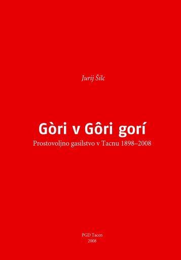 Prostovoljno gasilstvo v Tacnu 1898-2008 - Www-csd.ijs.si