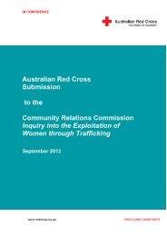 Inquiry into the Exploitation of Women through - Australian Red Cross