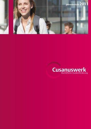 Jahresbericht 2011 - Cusanuswerk