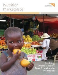 Nutrition Marketplace - World Vision's Nutrition Centre of Expertise