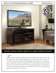 bell'o international corp. wavs99144 wood audio/video cabinet in ...