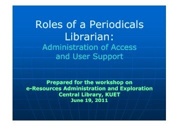 Admin and Support Library(pdf) - KUET