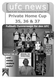 News - UFC Ellingen 1992 e.V.