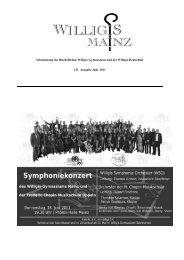 Schulzeitung Oktober 2011 - Bischöfliches Willigis Mainz