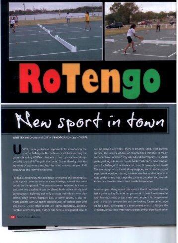 RoTengo New Sport In Town – San Antonio Sports - USRTA