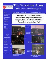 Highlights of Our October Events The Salvation Army Domestic ...