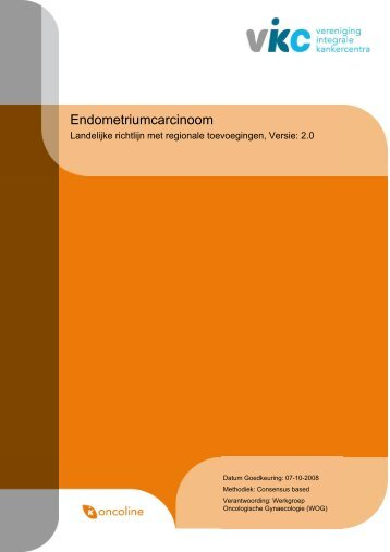 Richtlijn: Endometriumcarcinoom (2.0) - Kwaliteitskoepel