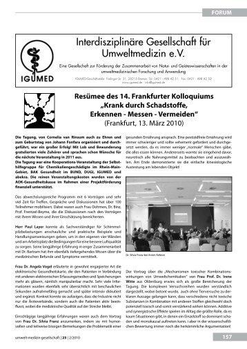 Krank durch Schadstoffe. Erkennen - Messen ... - UMG-Verlag