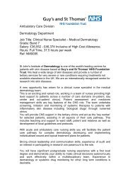 New opportunities in the Directorate of surgery - BDNG