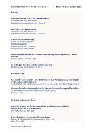 Publikationen Prof. Dr. Thomas Kolb Stand: 4. September 2012 ...