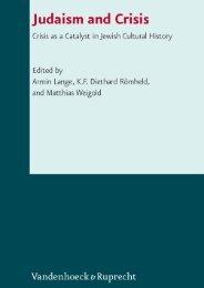 Judaism and Crisis - Vandenhoeck & Ruprecht