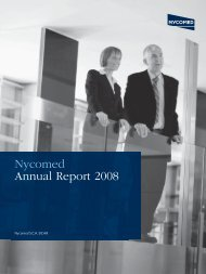 Nycomed Annual Report 2008 - Takeda Pharmaceuticals ...