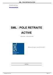 sml : pole retraite active - SNORL - Syndicat national des médecins ...