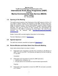 International Arctic Buoy Programme (IABP) Marine Environmental ...