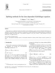 Splitting methods for the time-dependent Schrödinger equation - UPV