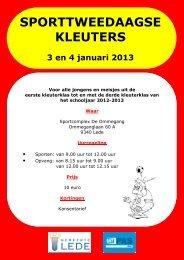 Folder Sporttweedaagse Kleuters 2013 - Gemeente Lede