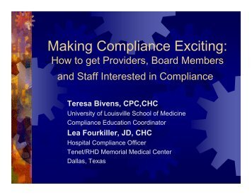 Making Compliance Exciting: