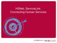 HSNet, Service Link: Connecting Human Services - ARCHI