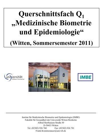 Teil I - Universität Witten/Herdecke