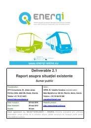 Deliverable 2.1 Raport asupra situaţiei existente Sumar public - URTP