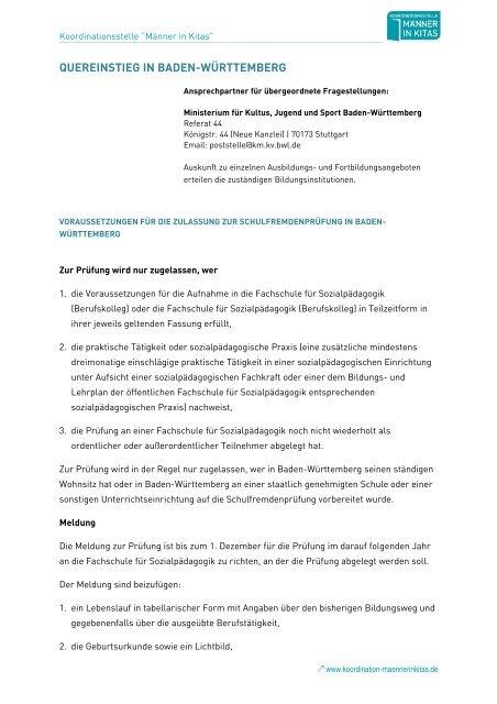 Zugangsvoraussetzungen zur Schulfremdenprüfung