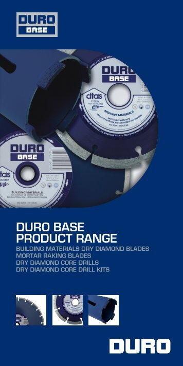 DURO BASE PRODUCT RANGE
