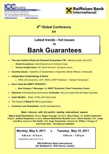 6th Global Conference on Bank Guarantees - Udruga korporativnih ...