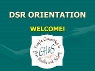 DSR Orientation August 2006 - Environmental Health & Safety