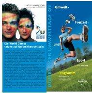Sport Programm Freizeit Umwelt - - Urban Green Days