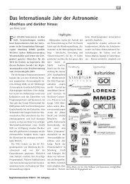 Das Internationale Jahr der Astronomie - IYA 2009