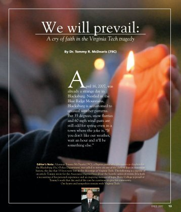 We will prevail: - Berry College