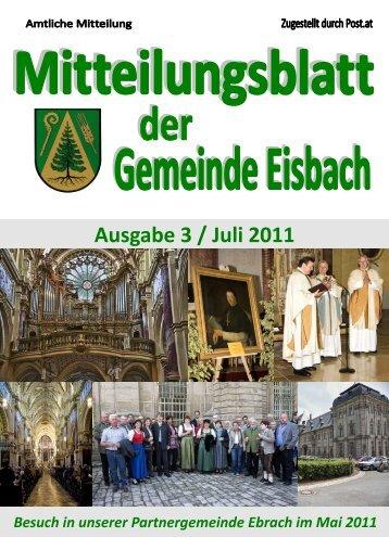 Mitteilungsblatt Ausgabe 3 ~ Juli 2011.pdf - Gemeinde Eisbach
