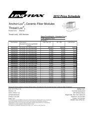 2012 Price Schedule Anchor-Loc 2 Ceramic Fiber Modules ... - Unifrax