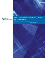 Mobile Advertising Richtlinien für Europa, Mittleren Osten & Afrika ...