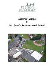Summer Camps 2013 - St. John's International School