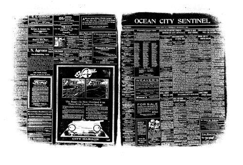 Dec 1919 On Line Newspaper Archives Of Ocean City