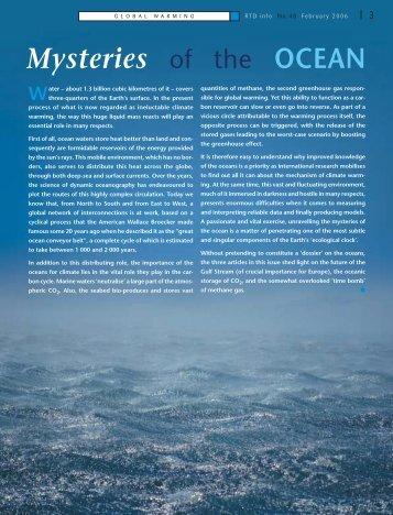 Mysteries of the OCEAN