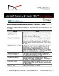 Microsoft Project with Clarity PPM™ Best Practices - Digital Celerity