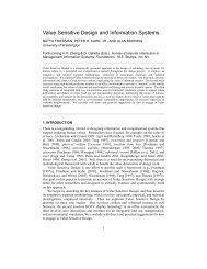 Value Sensitive Design and Information Systems - UrbanSim