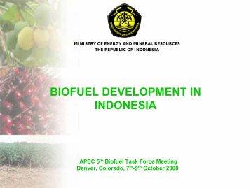 ESDM - APEC Biofuels